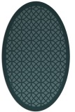 rug #356049 | oval blue-green circles rug