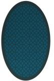 rug #356057 | oval blue-green circles rug
