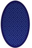 rug #356081 | oval blue-violet circles rug
