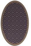 rug #356085 | oval beige borders rug
