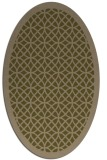 rug #356097 | oval brown circles rug