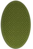 rug #356101 | oval green borders rug