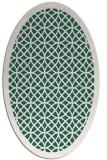 rug #356109 | oval green circles rug