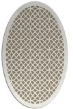 rug #356117 | oval white borders rug
