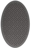 rug #356125 | oval mid-brown borders rug