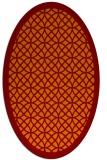 rug #356165 | oval orange borders rug