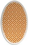 rug #356169 | oval orange borders rug