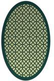 rug #356181 | oval blue-green circles rug