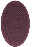 rug #356201 | oval purple circles rug