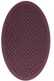rug #356201 | oval purple borders rug