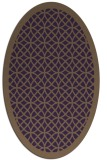 rug #356209 | oval purple circles rug