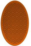 rug #356241   oval red-orange borders rug