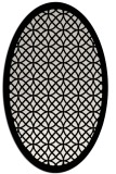 rug #356249 | oval white circles rug