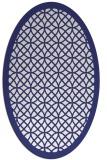 rug #356257 | oval blue borders rug