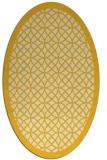 rug #356265 | oval yellow circles rug