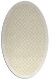 rug #356269 | oval yellow borders rug