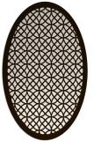 rug #356273 | oval brown rug