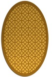 rug #356281 | oval yellow borders rug