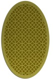 rug #356297 | oval light-green circles rug