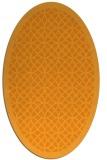 rug #356321 | oval light-orange borders rug