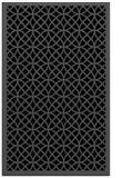 rug #356337 |  black borders rug