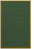rug #356389 |  green circles rug