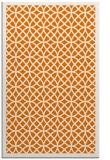 rug #356521 |  orange circles rug