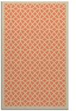 rug #356525 |  orange circles rug