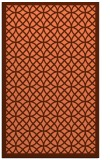 rug #356529 |  red-orange circles rug