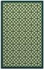 rug #356533 |  blue-green borders rug