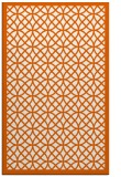 rug #356597 |  red-orange circles rug