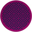 rug #356709 | round blue circles rug