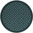 rug #356753 | round blue-green borders rug