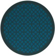rug #356757 | round blue-green borders rug