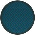 rug #356761 | round blue-green borders rug