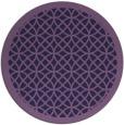 rug #356777   round purple borders rug