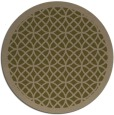 rug #356801 | round brown borders rug
