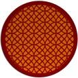 rug #356869 | round red-orange borders rug