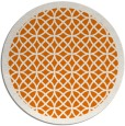 rug #356873 | round orange circles rug