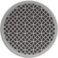 rug #356881 | round orange geometry rug