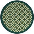 rug #356885 | round yellow geometry rug