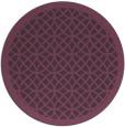 rug #356905   round purple circles rug