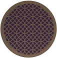rug #356913 | round purple borders rug