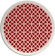 rug #356921 | round red circles rug