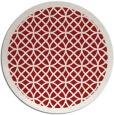 rug #356929 | round red borders rug