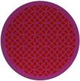 rug #356933 | round red borders rug