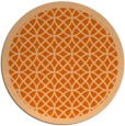 rug #356941 | round red-orange borders rug
