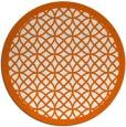 rug #356949   round red-orange circles rug