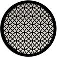 rug #356953 | round white borders rug