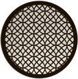 rug #356977 | round brown rug
